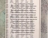 Ozymandias by Percy B. Shelley, Poem Print Poster
