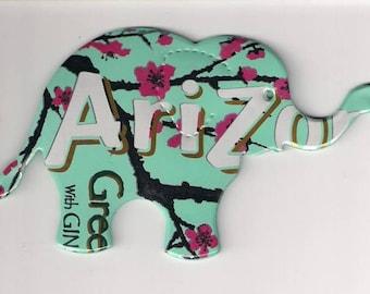 Precious Elephant, Arizona Green Tea Big Magnet Refrigerator Stove Locker Desk