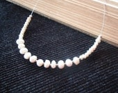 Modern White Freshwater Pearl Necklace