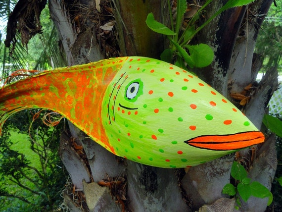 Recycled Florida Palm Frond Fish Decor Orig J Craig Florida