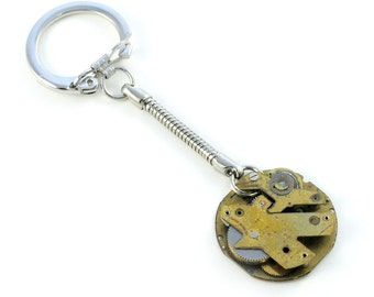 40% Off Sale - Steampunk Vintage Brass Watch Key Chain