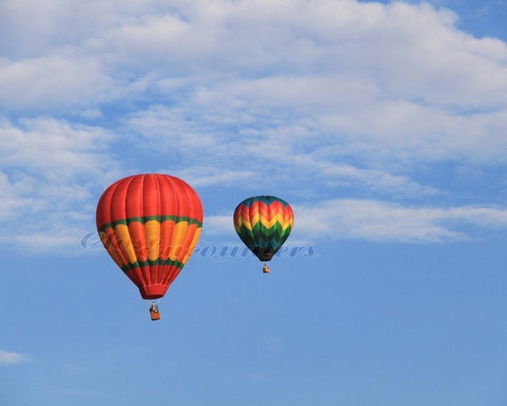 Summer Sky over Geauga County - Hot Air Balloon Photography - Fine Art Print Home Decor Wall Art