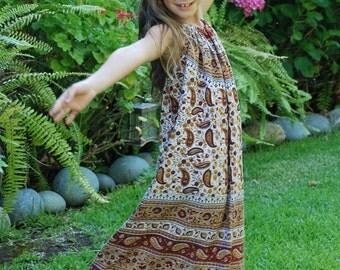 Hippie Chick Hippie Halter Dress - Maroon Carmel Jaipur -  6-7 will fit many sizes - read Measurements