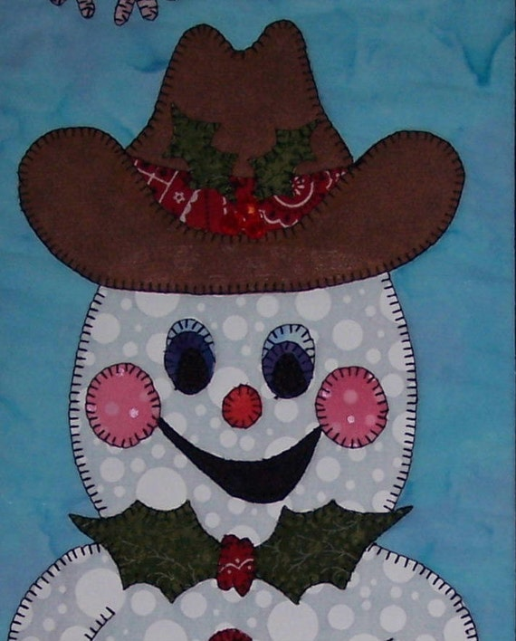 Country Christmas - Snowman Quilted Wall Hanging Pattern Download