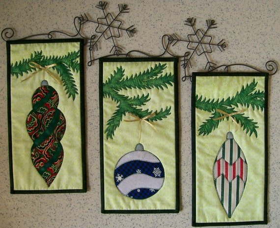 Christmas beauty quilted wall hanging ornament pattern
