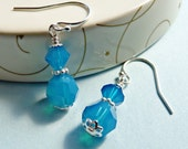 Swarovski Caribbean Blue Earrings