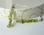 Peridot and Sterling Silver Earring