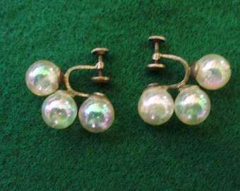 Vintage Screw Back Earrings
