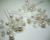 Pearl and Crystal Hair Pin Bridal Wedding Accessories