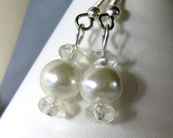 Pearl and Crystal Here Comes the Bride Earrings