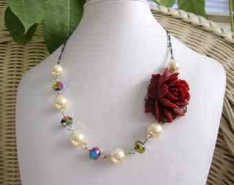 Peacocks in the Garden Necklace Bridesmaid Bride Formal Occasion Jewelry