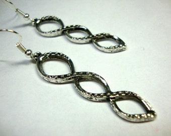 Silver Goddess Style Earrings Infinity