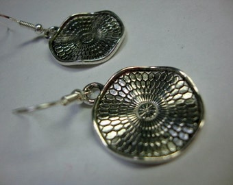In the Round Silver Disc Earrings