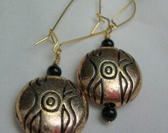 Aztec Gold/Copper Tone Earrings
