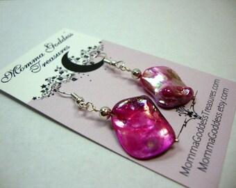 Pink Pearl Nugget Earrings