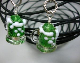 Luck of the Irish Mugs of Green Beer Earrings
