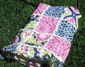Baby Doll Rag Quilt with Secret Garden Fabric Collection