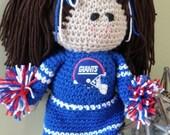 New York Giants Cheerleader Doll