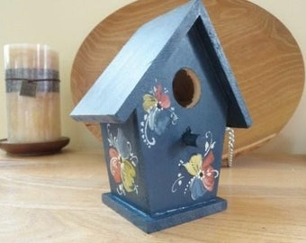 Norwegian Rosemaled Birdhouse