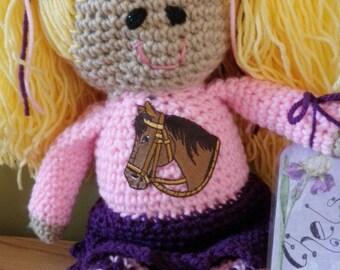 Design-your-own crocheted  rag doll