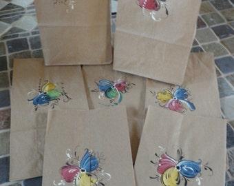 Norwegian Rosemaled Lunch Bags or Favor Bags