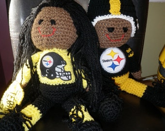 Pittsburgh Steelers Troy Polamalu Doll