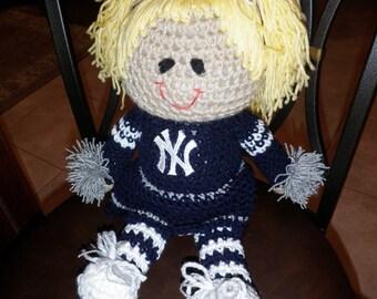 New York Yankees Cheerleader Doll I Love NY