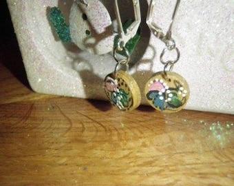 Tiny Norwegian Rosemaled Earrings