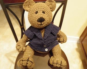 Cuddly  Bear in Norwegian Flag Sweater