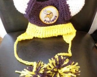 Minnesota Vikings Crocheted Baby Helmet