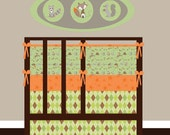 Fox Trails crib bedding with bumper set, fitted sheet and crib skirt  more prints to choose from