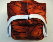 Diaper cover PUL lined Basketball size Medium