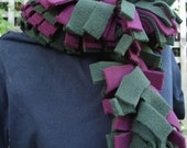 Maroon and green fidget scarf - long