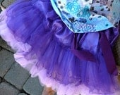Little Loulee's all NEW Purple and Lavender Pettiskirt and MATCHING stretchy headband and rhinestone center daisy.