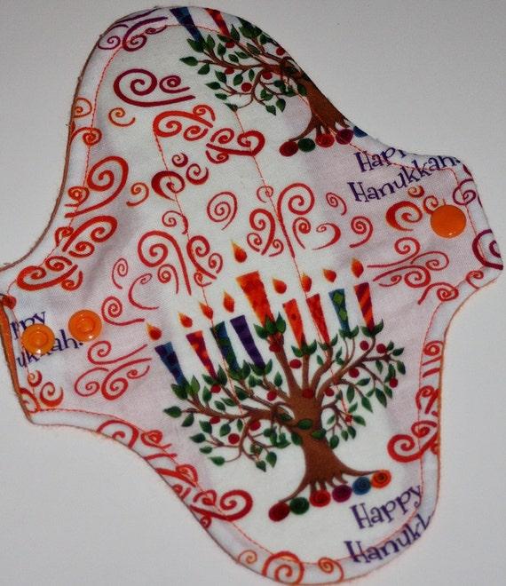 Happy Hanukkah Reusable Cloth Pantyliner Pad
