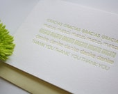Letterpress Thank You Card - Thanks