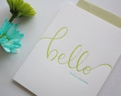 Letterpress Just Because Card - Hello Dear Friend