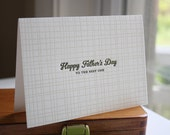 Father's Day Card - The Best One - Letterpress