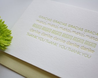 Letterpress Thank You Card - Thanks