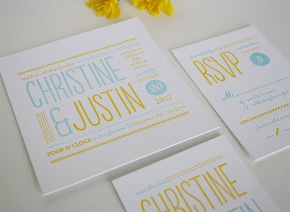 like this item - Modern Wedding Invites