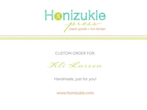Custom Listing for Ali Larsen - Completely Custom Letterpress Invitation Suite - Deposit