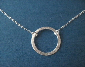 Sterling Silver Eternity Circle Necklace