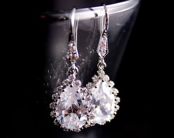 Wedding Jewelry Bridal Jewelry Rhinestone Wedding Earrings Julianna