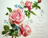 Digital Download Scan Vintage Chic Pink Shabby Roses ECS Victorian