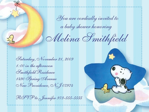 items similar to snoopy baby shower invitation reserve listing for
