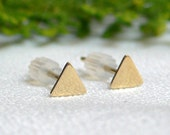 14 Karat Gold Triangle Post Earrings