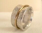 Silver & 18 Karat Gold Meditation Ring