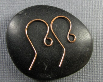 Handmade Copper  Ear Wires -Zig Zag 3 pair