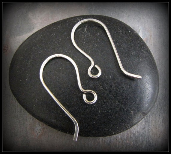 Silver Filled Handmade Earwires - Inverted 2 Pair