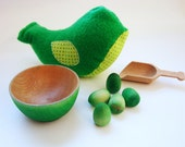 Chick-A-Dee Playset - Green Edition - A Montessori and Waldorf Inspired Counting and Learning Toy